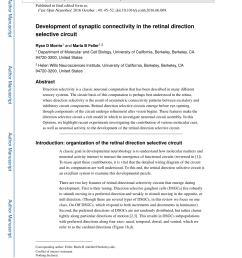 pdf development of synaptic connectivity in the retinal direction selective circuit [ 850 x 1100 Pixel ]