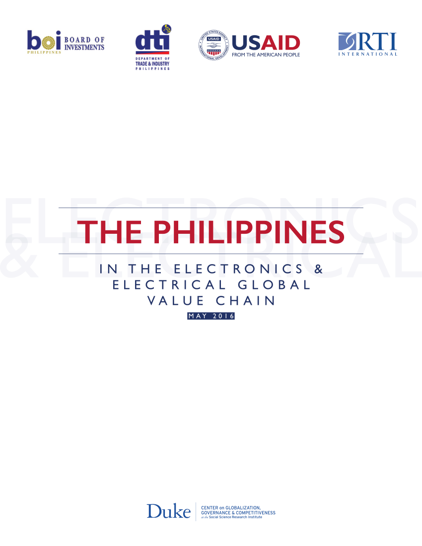 medium resolution of  pdf the philippines in the electronics electrical global value chain