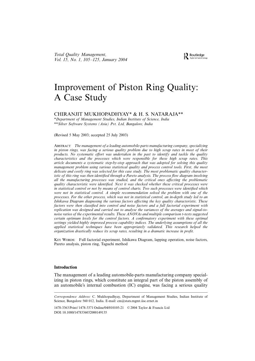 medium resolution of  pdf improvement of piston ring quality a case study
