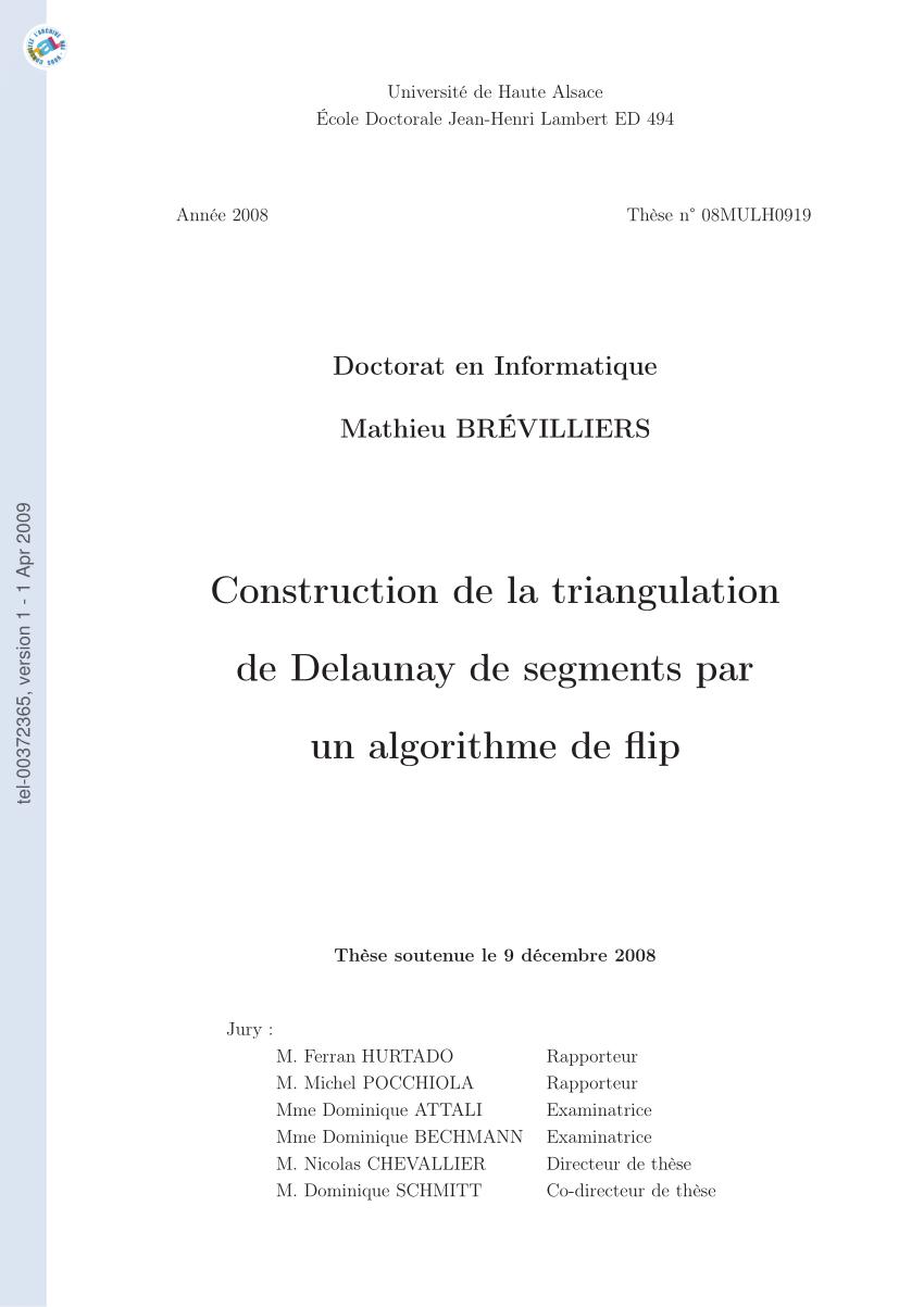 medium resolution of  pdf construction de la triangulation de delaunay de segments par un algorithme de flip