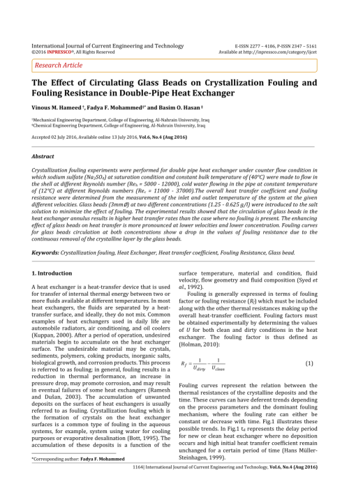 small resolution of  pdf the effect of circulating glass beads on crystallization fouling and fouling resistance in double pipe heat exchanger