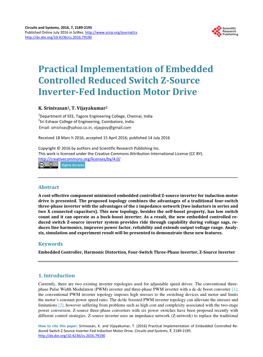 medium resolution of  pdf performance of a 4 switch 3 phase inverter fed induction
