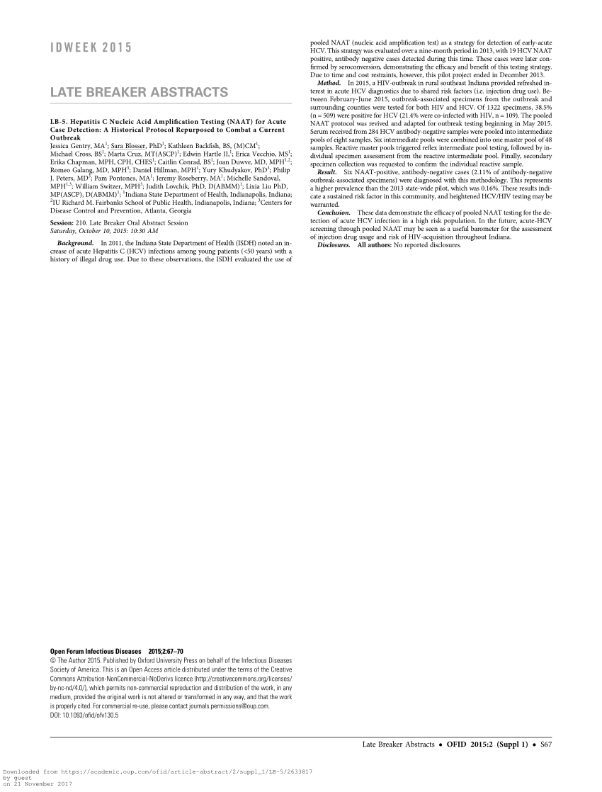 (PDF) Hepatitis C Nucleic Acid Amplification Testing (NAAT ...