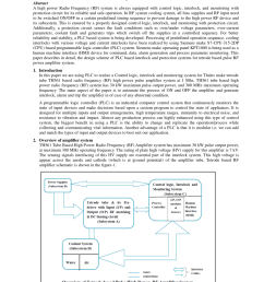 pdf control logic interlock and monitoring system for 1 mhz tetrode tube based pulse high power rf amplifier system [ 850 x 1100 Pixel ]