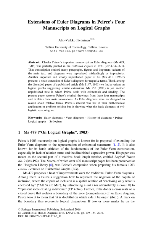 small resolution of  pdf extensions of euler diagrams in peirce s four manuscripts on logical graphs