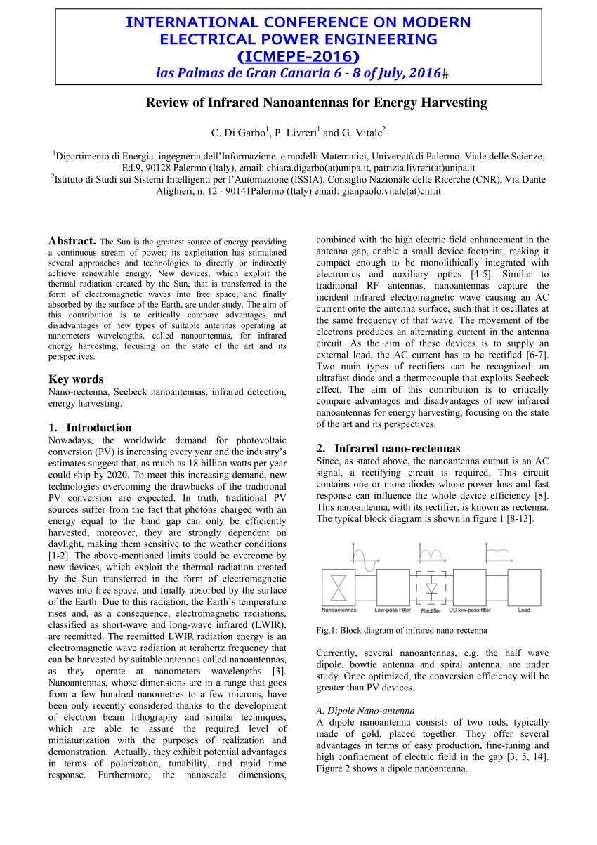 hight resolution of  pdf review of infrared nanoantennas for energy harvesting