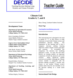 PDF) Teaching Decision Making Using Weather and Climate Principles: Climate  Unit Grades 6 [ 1100 x 850 Pixel ]