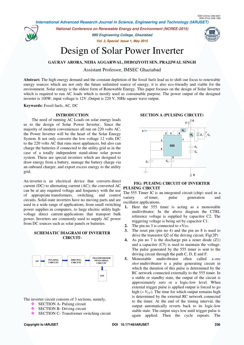hight resolution of  pdf design of solar power inverter