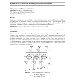 pdf a new approach to modeling three phase transformer connections [ 850 x 1100 Pixel ]