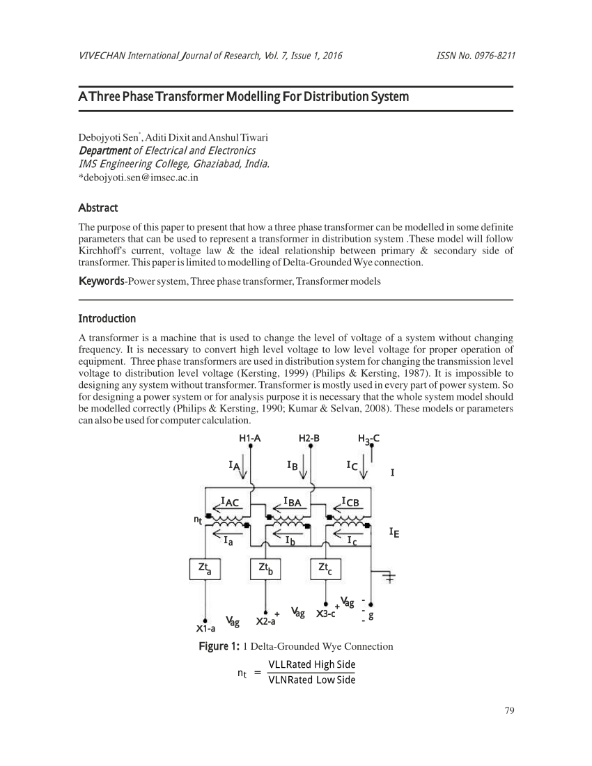 hight resolution of  pdf a new approach to modeling three phase transformer connections