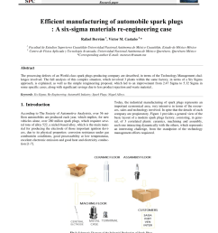 pdf efficient manufacturing of automobile spark plugs a six sigma materials re engineering case [ 850 x 1203 Pixel ]