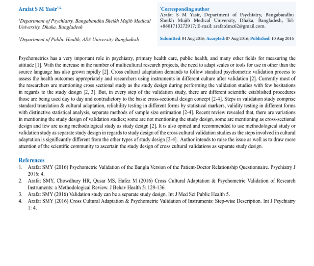 Pdf Study Design Of Validation Studies Needs Attention A Letter To The Editor