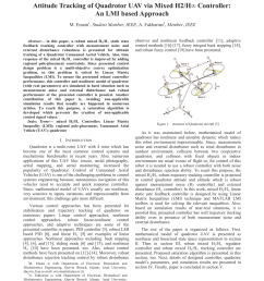 pdf attitude tracking of quadrotor uav via mixed h2 h controller an lmi based approach [ 850 x 1100 Pixel ]