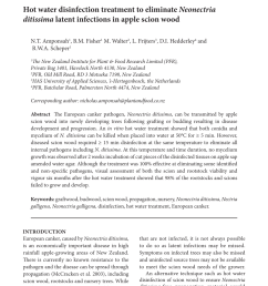 pdf hot water disinfection treatment to eliminate neonectria ditissima latent infections in apple scion wood [ 850 x 1173 Pixel ]