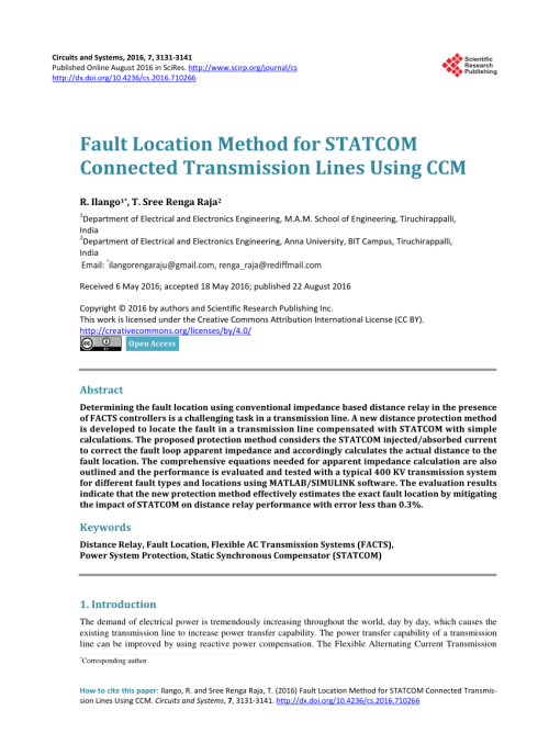 small resolution of  pdf setting considerations of distance relay for transmission line with statcom