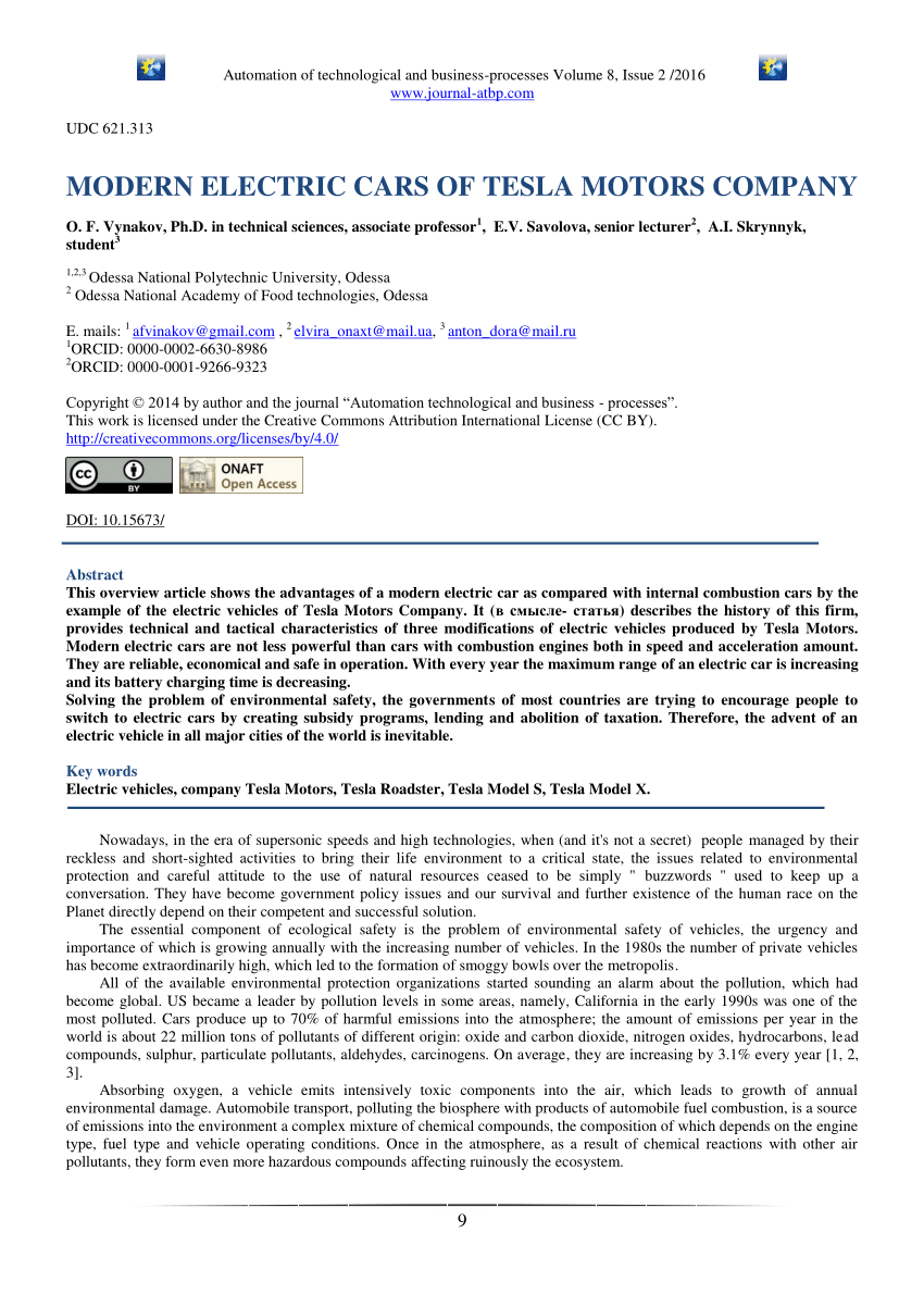 medium resolution of  pdf modern electric cars of tesla motors company