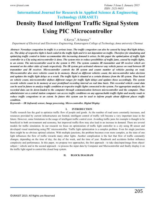 small resolution of  pdf smart traffic light control system