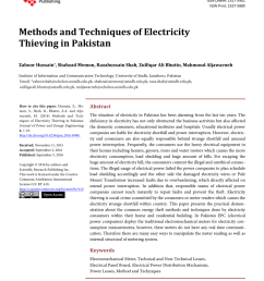 pdf methods and techniques of electricity thieving in pakistan [ 850 x 1113 Pixel ]