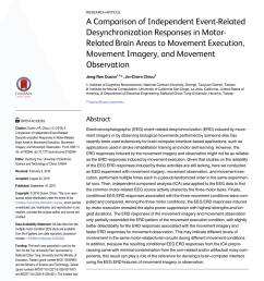 pdf a comparison of independent event related desynchronization responses in motor related brain areas to movement execution movement imagery  [ 850 x 1100 Pixel ]