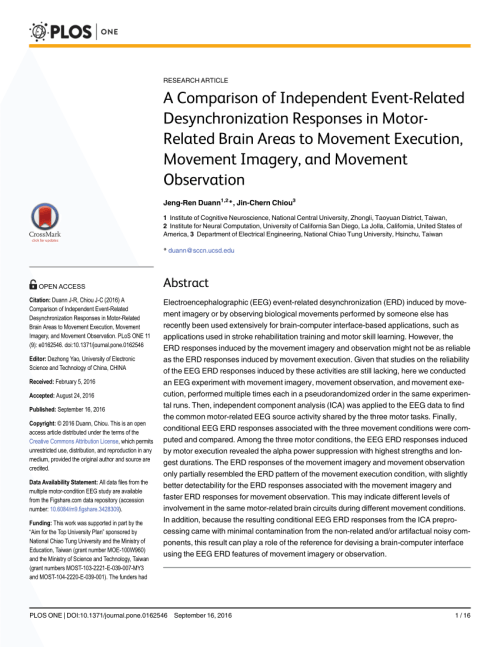 small resolution of  pdf a comparison of independent event related desynchronization responses in motor related brain areas to movement execution movement imagery