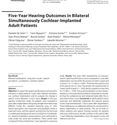 bilateral cochlear implantation current concepts indications and results request pdf [ 850 x 1133 Pixel ]