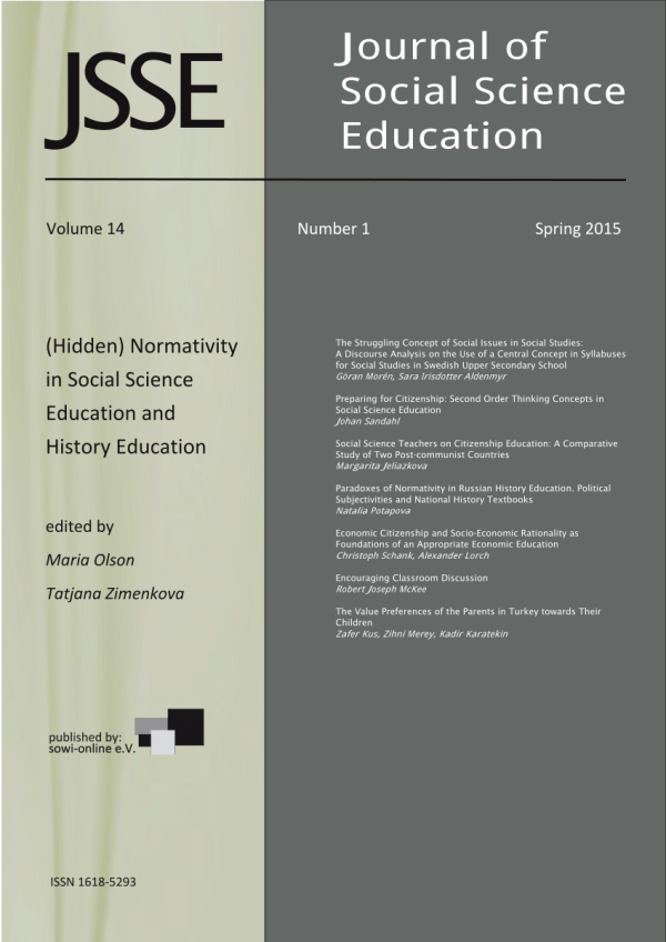 Pdf Normativity In Social Science Education And History