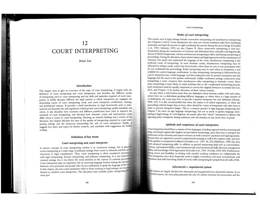 (PDF) Court Interpreting