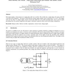 pdf a design of single phase bridge full wave rectifier [ 850 x 1202 Pixel ]