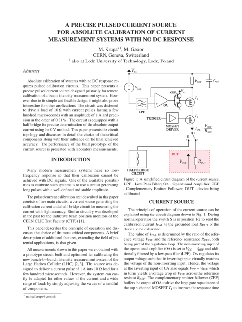 small resolution of  pdf a precise pulsed current source for absolute calibration of current measurement systems with no dc response
