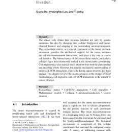 pdf cell ecm interactions in tumor invasion [ 850 x 1213 Pixel ]