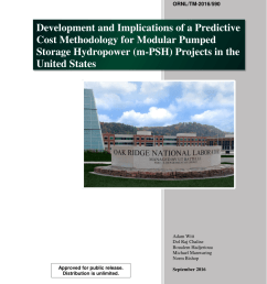 pdf evaluation of the feasibility and viability of modular pumped storage hydro m psh in the united states [ 850 x 1100 Pixel ]