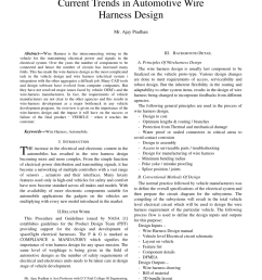pdf current trends in automotive wire harness design [ 850 x 1100 Pixel ]