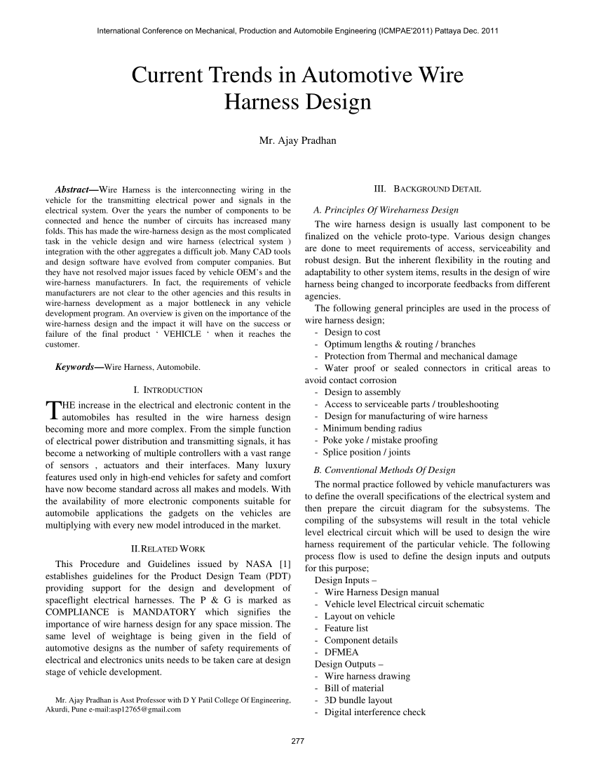 medium resolution of  pdf current trends in automotive wire harness design