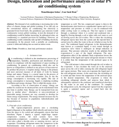 pdf design fabrication and performance analysis of solar pv air conditioning system [ 850 x 1100 Pixel ]