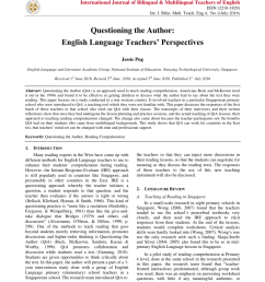 PDF) Questioning the Author: English Language Teachers' Perspectives [ 1133 x 850 Pixel ]