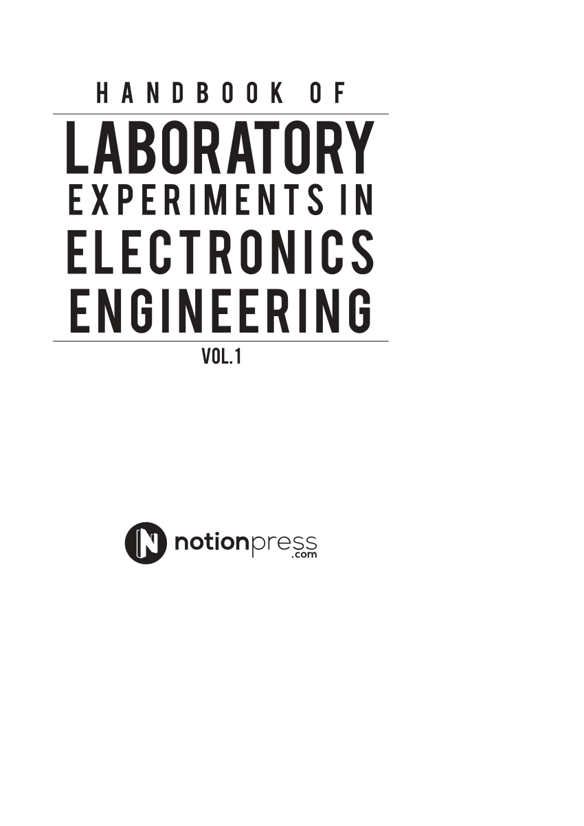 (PDF) Handbook of Laboratory Experiments in Electronics