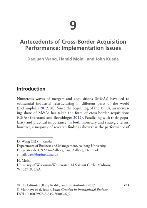 small resolution of  pdf using acquisitions to access multinational diversity thinking beyond the domestic versus cross border m a comparison