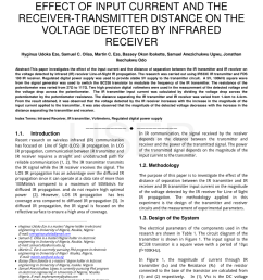 pdf effect of input current and the receiver transmitter distance on the voltage detected by infrared receiver [ 850 x 1100 Pixel ]
