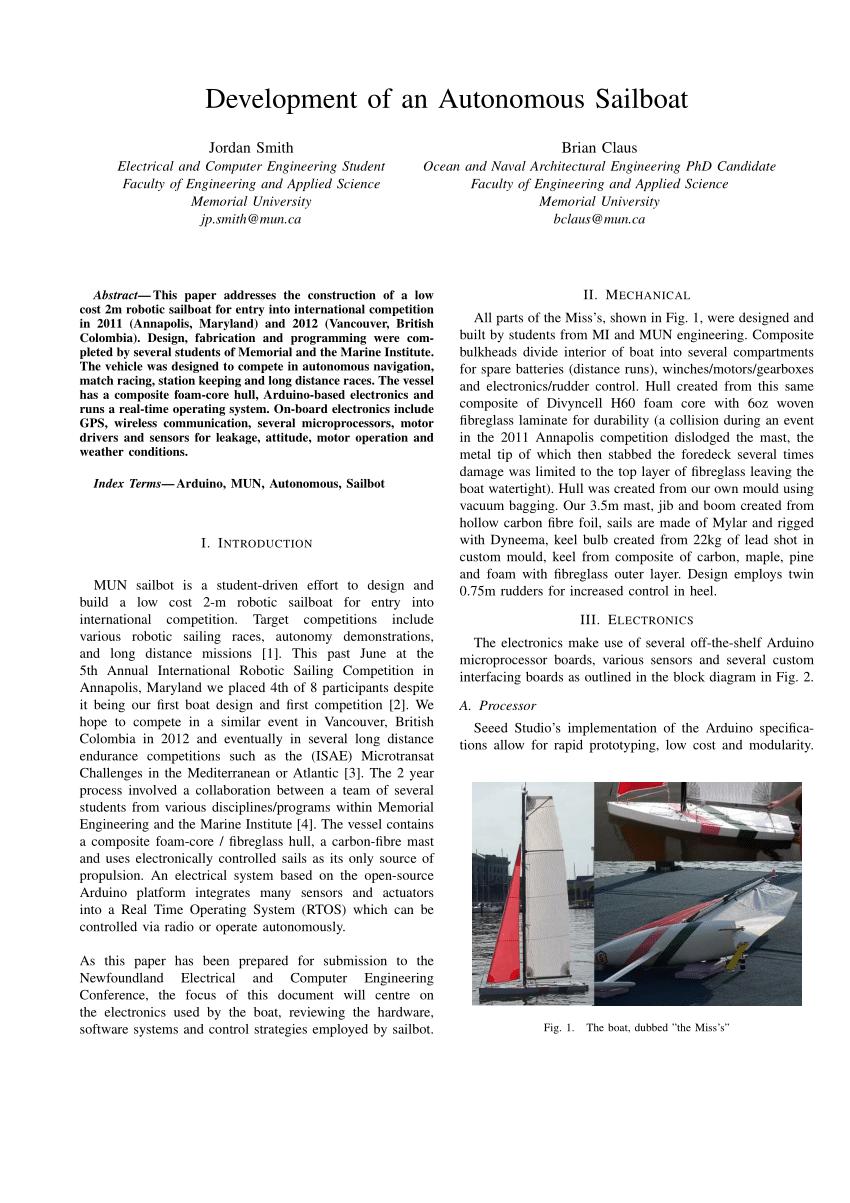 medium resolution of  pdf development of an autonomous sailboat