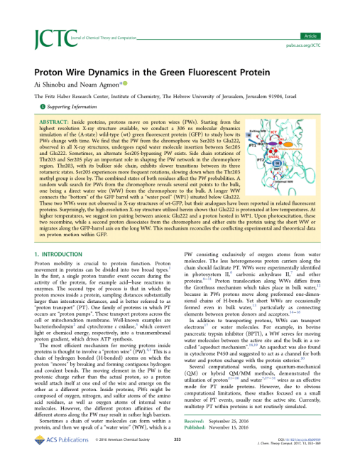 small resolution of  pdf proton wire dynamics in the green fluorescent protein