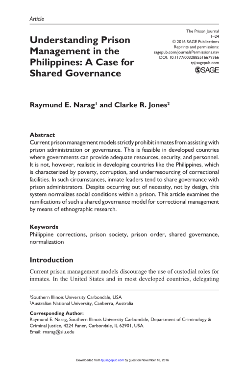 small resolution of  pdf understanding prison management in the philippines a case for shared governance