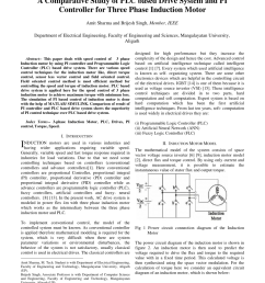 pdf a comparative study of plc based drive system and pi controller for three phase induction motor [ 850 x 1100 Pixel ]