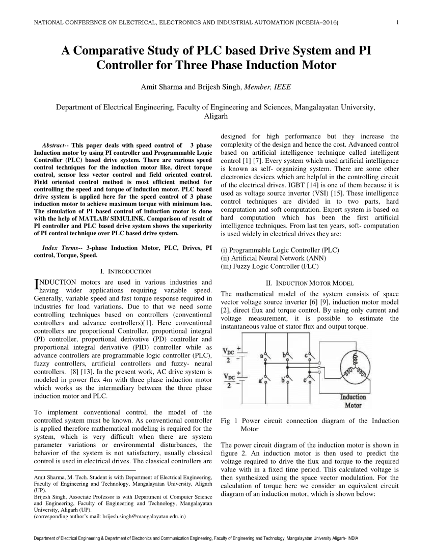 medium resolution of  pdf a comparative study of plc based drive system and pi controller for three phase induction motor