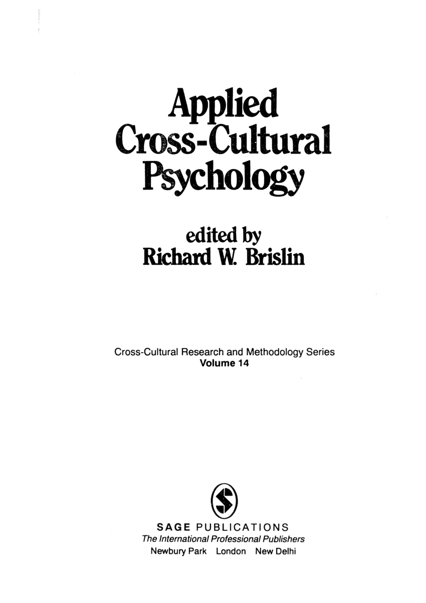 (PDF) Indigenous psychology: Science and application.