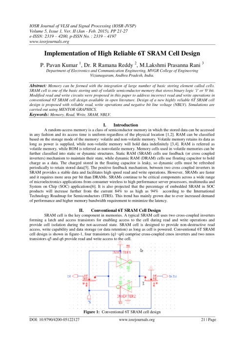 small resolution of  pdf implementation of high reliable 6t sram cell design