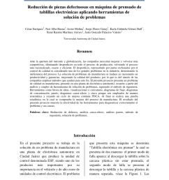 pdf reducci n de piezas defectuosas en m quina de prensado de tablillas electr nicas aplicando herramientas de soluci n de problemas [ 850 x 1100 Pixel ]