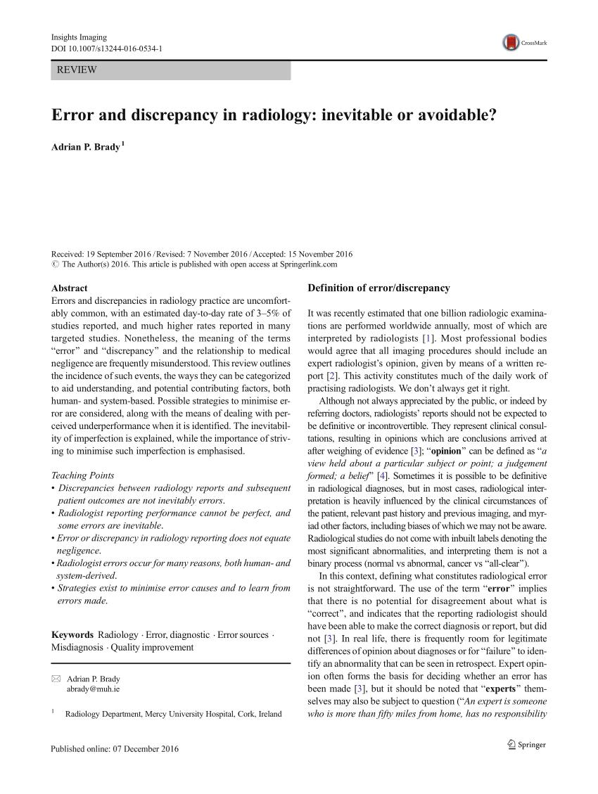 gm radio cal err molecular orbital energy diagram for f2 pdf error and discrepancy in radiology inevitable or avoidable