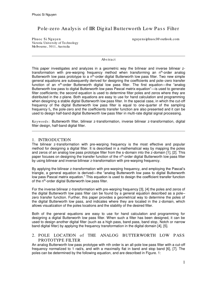 hight resolution of  pdf bilinear z transformation and pascal s triangle