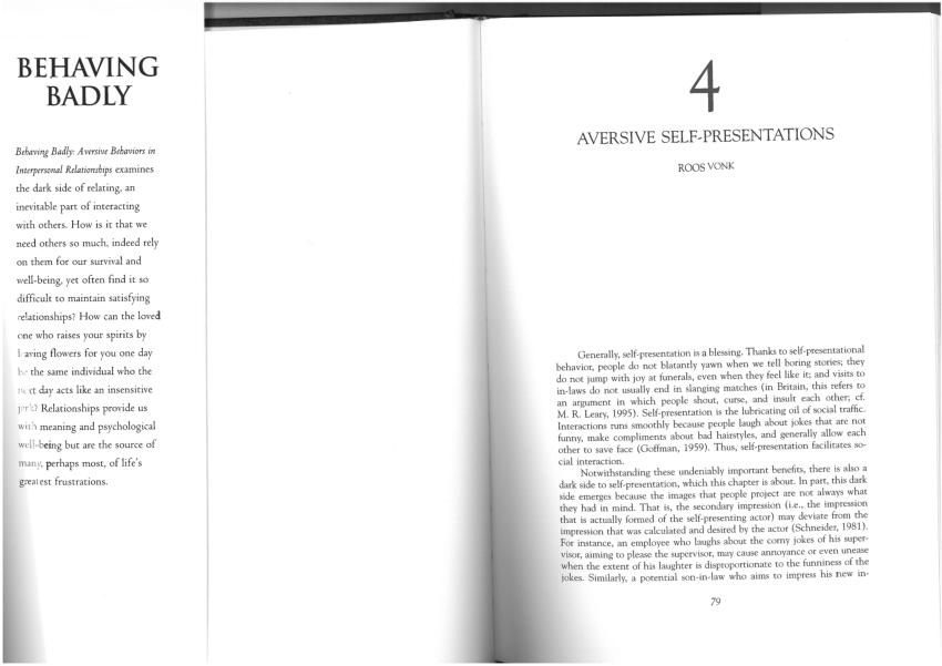 (PDF) Aversive self-presentations
