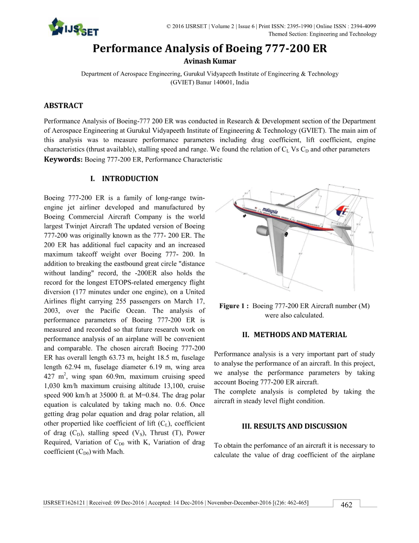 medium resolution of  pdf performance analysis of boeing 777 200 er